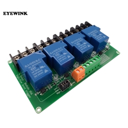 4 канальный релейный модуль 30A с Оптрон 5 В, 12 В, 24 В постоянного тока, поддержка высокого и низкого Тригер вспышка триггера для умного дома