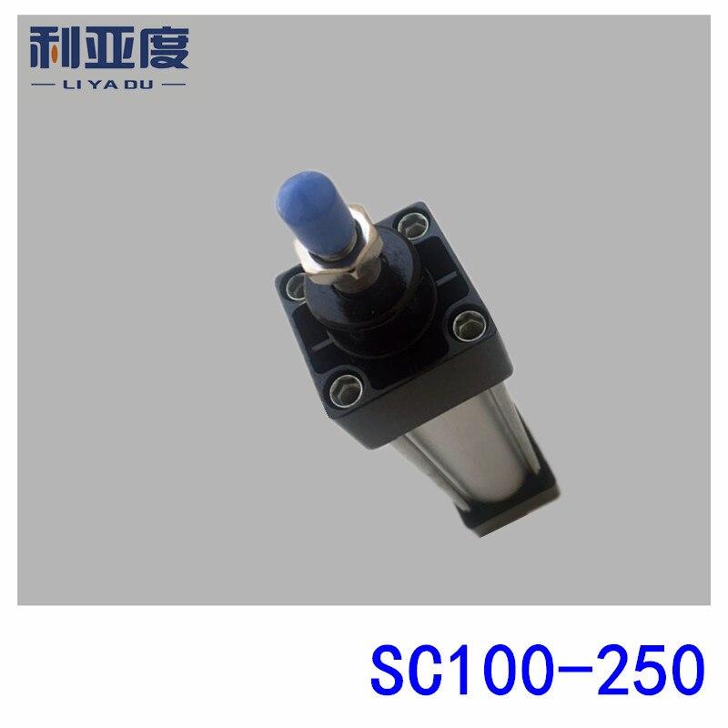 SC100*250 Rod aluminum alloy standard cylinder SC100X250 pneumatic components 100mm Bore 250mm Stroke sc100 100 rod aluminum alloy standard cylinder sc100x100 pneumatic components 100mm bore 100mm stroke