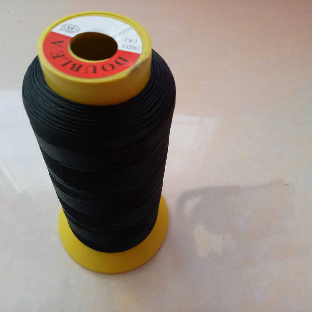 1 roll Top Quality Black Polyester thread sewing thread hair weaving thread