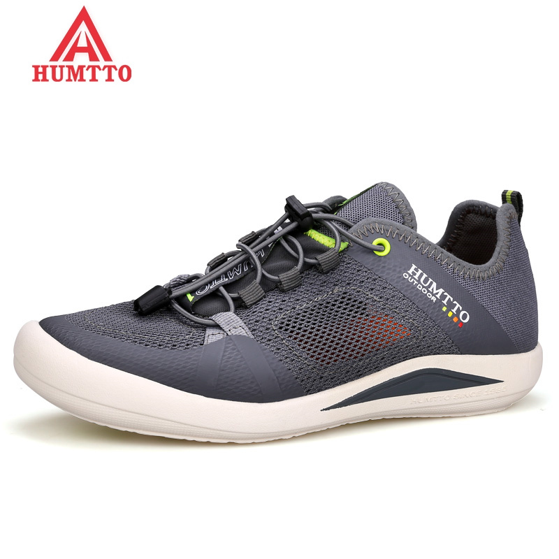 HUMTTO Brand Summer Hiking Shoes Men 2018 New Breathable Mesh Outdoor Trekking Shoes Man Climbing & Fishing Non-slip Sneakers 2017 new rax spring and summer trace shoes men interference water breathable non slip hiking shoes mesh shock absorber insoles