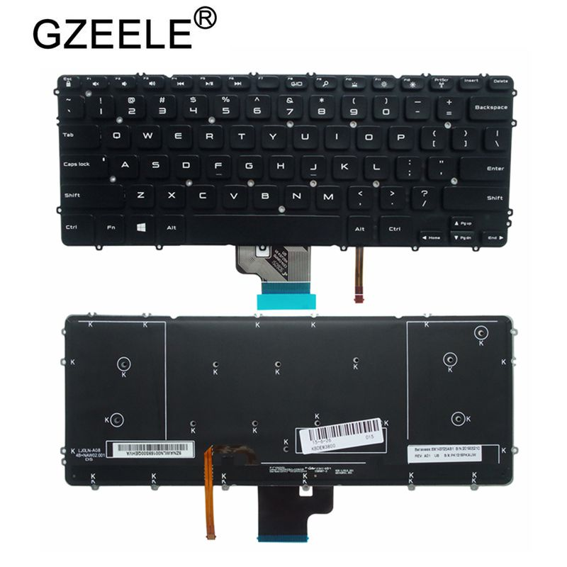 GZEELE NEW US Layout for Dell Precision M3800 XPS 15 9530 US backlit Keyboard 0HYYWM