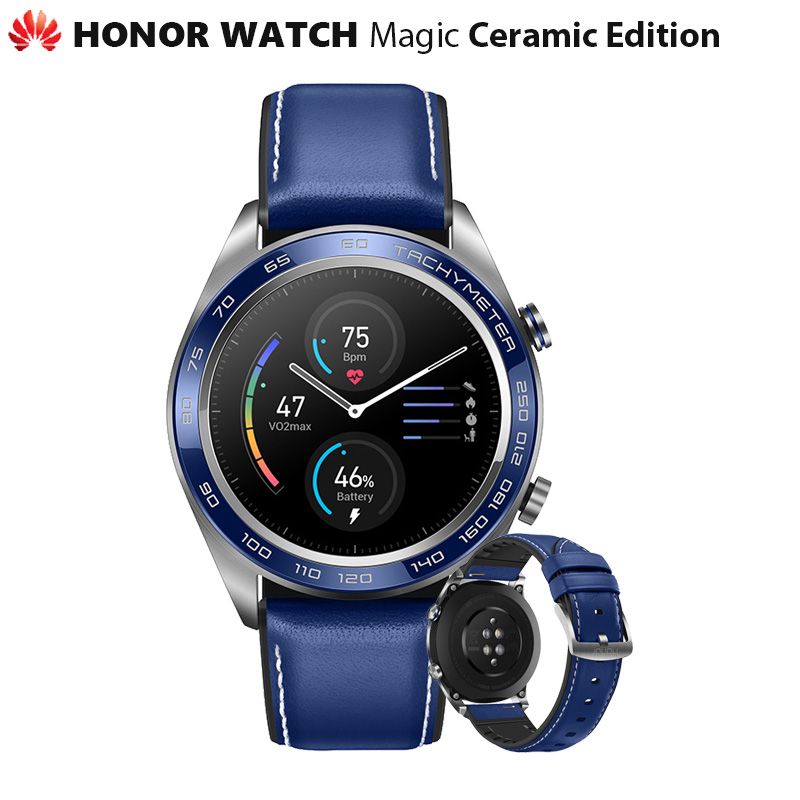 Original Huawei Honor Watch Magic Ceramic Ver Outdoor Smart Watch Sleek Slim Long Battery Life GPS
