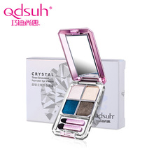 Qdsuh Brand New Crystal 3D Four-color Eye Shadow Soft Brush Makeup Face Naked Palette pallete Highlighter