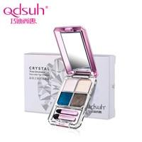 Qdsuh Crystal 3D Four Color Eye Shadow Soft Brush Makeup Face Hightlight Natural