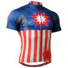 Pro corta Camisetas de ciclismo Capitán América Bicicletas Camisas deporte  clothings mens banda de silicona antideslizante MTB b. 11ddac93d
