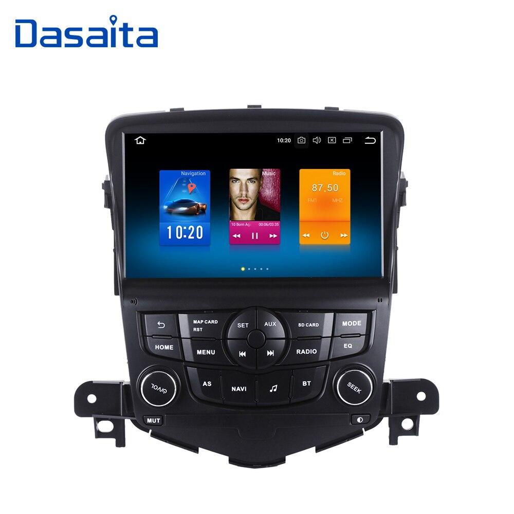 Dasaita 8 Android 8.0 Do GPS Do Carro Jogador de Rádio para Chevrolet Cruze 2008-2011 com Núcleo octa 4 gb + 32 gb Auto Estéreo Navi Multimedia
