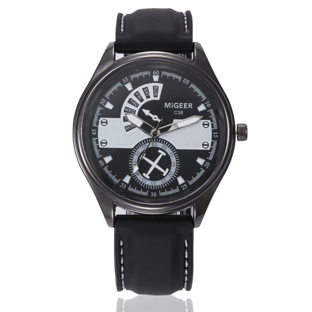 2018 Men Fashion Silicone strap Watches Sport Cool Quartz Hours Wrist Analog Watch Military Digital Relogio Masculino Saat Gift