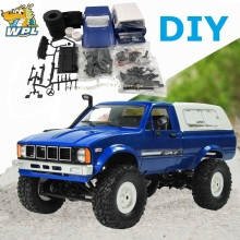 WPL C24 2,4 г DIY RC автомобиль комплект дистанционного Управление автомобиль Радиоуправляемый гусеничный внедорожника Багги двигающиеся RC автомобиль 4WD игрушки для детей Распродажа