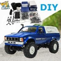 WPL C24 2.4G DIY RC Car KIT Remote Control Car RC Crawler Off road Car Buggy Moving Machine RC Car 4WD Kids Toys Sales promotion