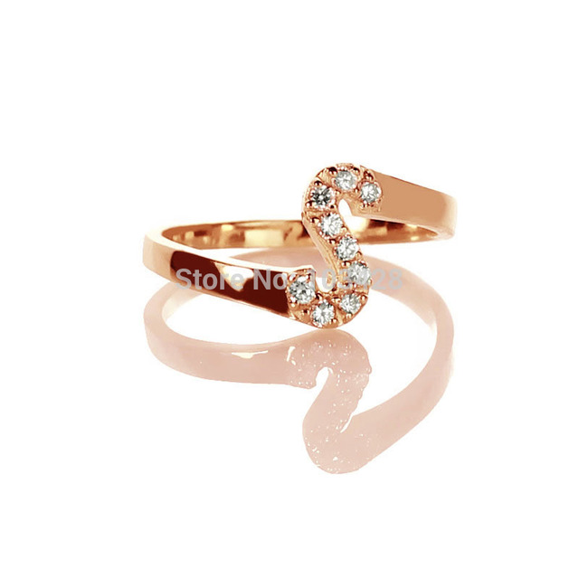 3128471a30 AILIN Custom Name Rings Personalized Cut 1 Initial With Birthstone Ring  Unique Rose Gold Color Ring For Women