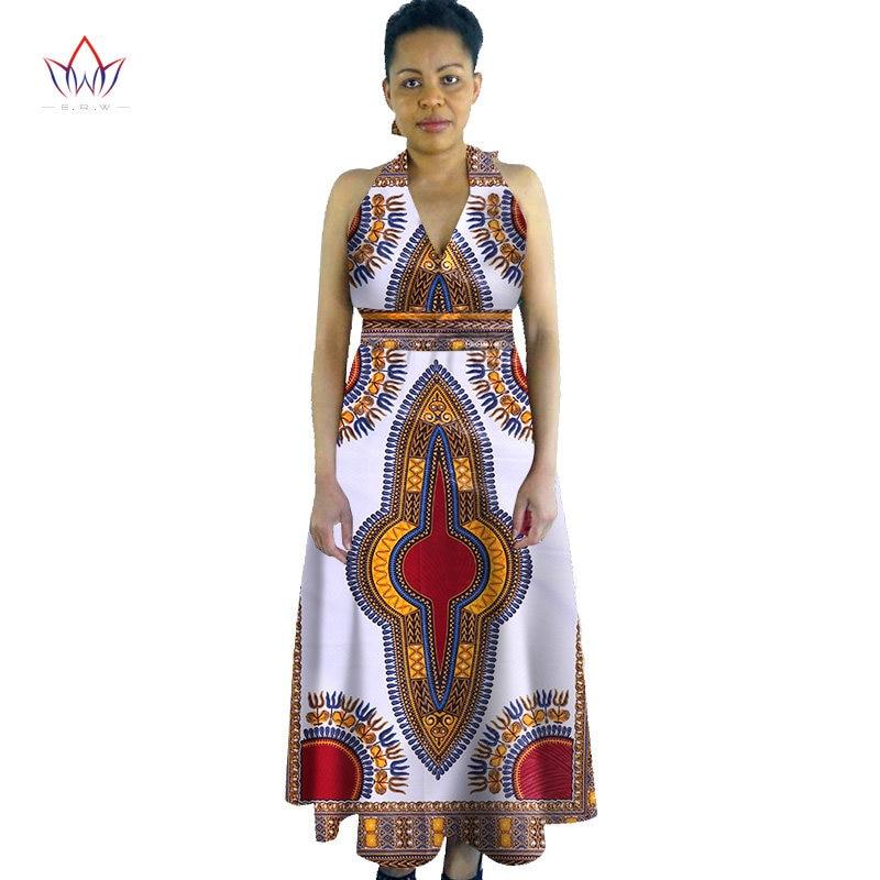 2017 Custom African Summer Women Dress African Print Dashiki Dress for Women  Sleeveless Long Dress Plus 952f2567f44e