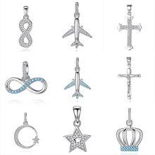 BELAWANG New Arrival 925 Sterling Silver Heart Charm Pendant Fit Women Chain Link Necklace & Bracelet Silver Jewelry Accessories