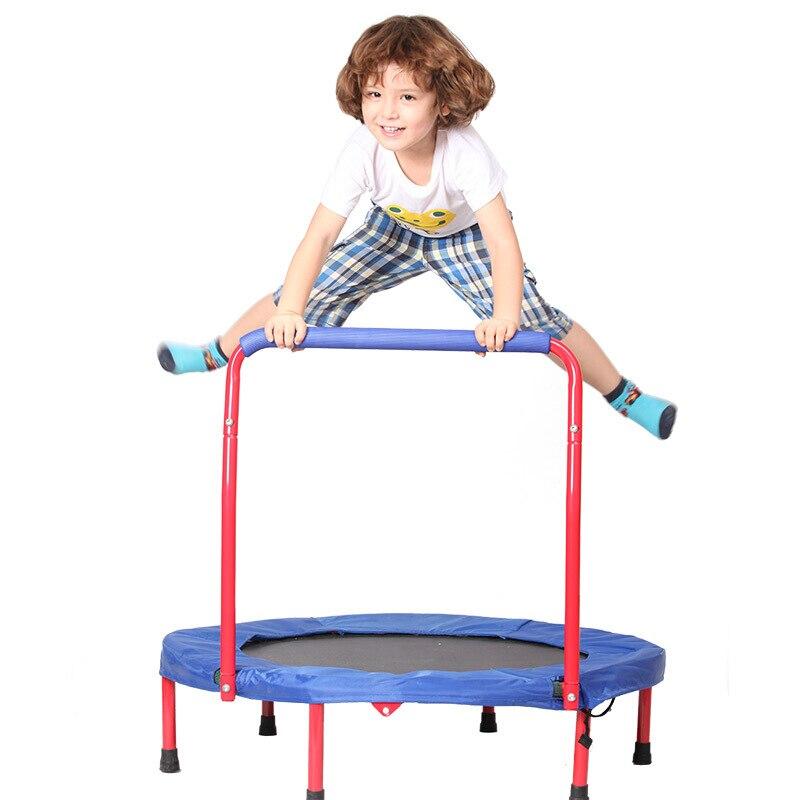 טרמפולינה לילדים בטיחות עיצוב עם ידית נייד & מתקפל מתנות לבית & חיצוני כושר גוף תרגיל משחק 36 inch