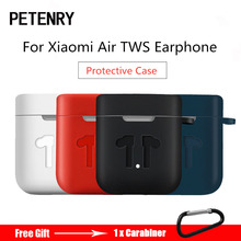 Silicone Case for Xiaomi Airdots Pro Shockproof Earphone Protective Cover Pouch for Xiaomi Air TWS Headset Accessories with Hook