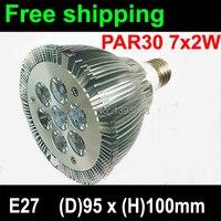 7X2W E27 LED Light Par30 LED Lamp Bulbs E27 Par 30 SpotLight Cool White Warm White
