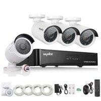 SANNCE 4CH NVR 960 P IP Netwerk PoE Video Record IR Outdoor CCTV Home video Surveillance kit