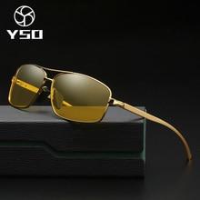 YSO очки ночного видения для мужчин алюминия и магния рамки поляризационные ночное видение очки для вождения автомобиля с антибликовым покрытием очки 2458