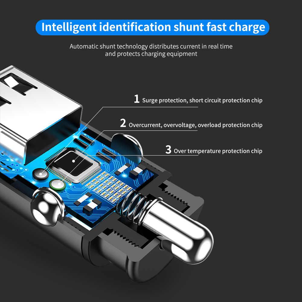 Marjay Merah Usb Charger Mobil untuk iPhone X Xiaomi Redmi Note 7 Samsung S10 Tablet Dual 3.4A Cepat Charger Mobil -Adaptor Charger Di Mobil