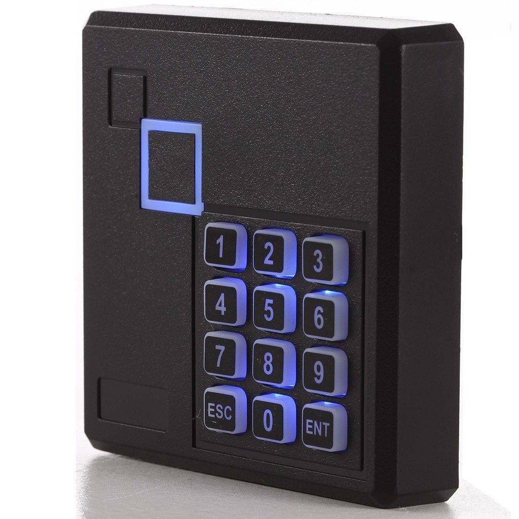 Proximity Rfid Id Card Door Access Control Keypad Reader 125KHz Wiegand 26 Bit Color Black outdoor mf 13 56mhz weigand 26 door access control rfid card reader with two led lights