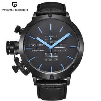 Relogio Masculino PAGANI DESIGN Black Military Quartz Watch Men Luxury Waterproof Auto Date Chronograph Sport Wrist Watch Clock - DISCOUNT ITEM  50% OFF All Category