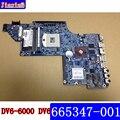 665347-001 para HP DV6 DV6-6000 Laptop motherboard 665347 001 HM65 chipset 100% Testado e garantido em bom estado de funcionamento condição