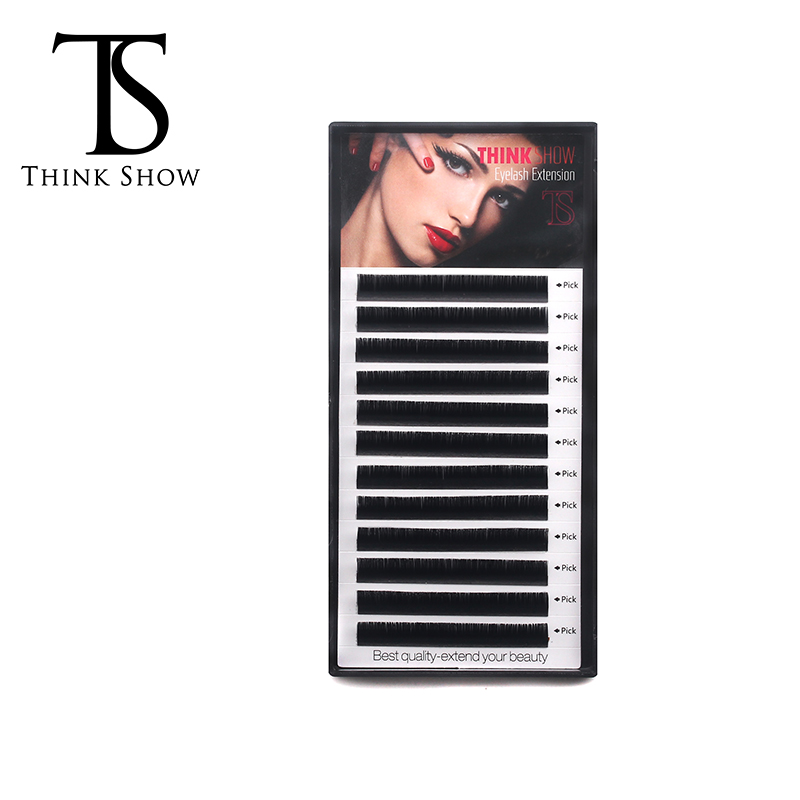 Thinkshow 8-15mm Eyelash Extension Korea Silk Individual Eyelash Natural Long Individual Mink Lashes False Lash High Quality