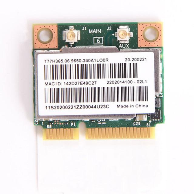 להקה כפולה ברודקום BCM943228HMB 802.11a/b/g/n 300 Mbps Wifi אלחוטי כרטיס Bluetooth 4.0 חצי מיני pci-e מחברת Wlan 2.4 Ghz 5 Ghz