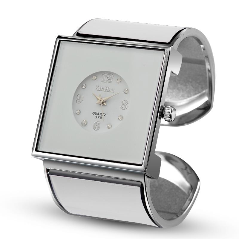 Relogios Feminino 2019 XINHUA Women Watches Stainless Steel Bracelet Bangle Rhinestone Designer Unique Watch Dress Female Clock