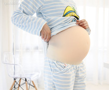 XL size twins 5~7 month large tow baby bump crossdressing silicone fake pregnant belly big beer belly цена в Москве и Питере