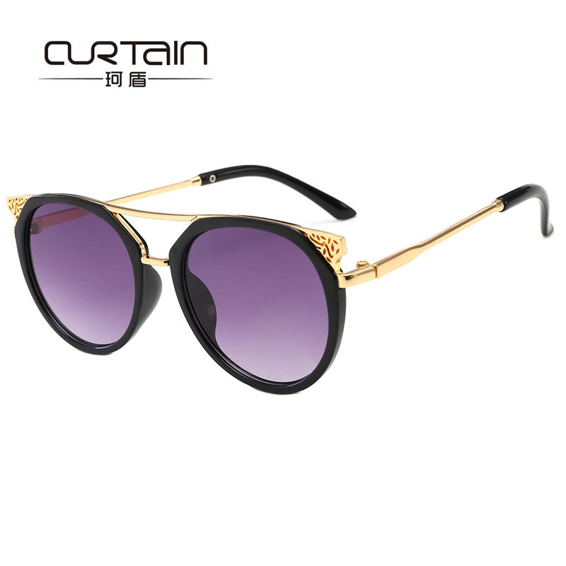 2019 New Arrived Kids Sunglasses Fashion Oval Baby Boys&girls 3-8 Years Glasses Protect Uv400 Coating Lens Gold Leg Eyewear N764 Girls' Clothing