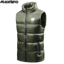 MADHERO Top Quality Solid Men's Vest Windproof Keep Warm Light Waistcoat Casual Sleeveless Jackets Men Outerwear Autumn Winter