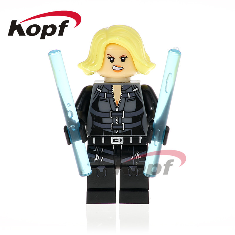 Single Sale Super Heroes Infinity War Figures Black Widow Corvus Glaive Thanos Spiderman Building Blocks Kids Toys Gift XH 822