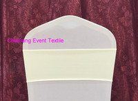 New Arrival 10pcs Ivory Spandex Lycra Chair Band,Single Layer Spandex Chair Band&Sash for Wedding Event