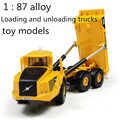 Free shipping ! 1 : 87 alloy slide car toy models construction vehicles ,Loading and unloading trucks,Children's favorite