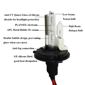 Image 2 - Safego DC 12V hid xenon h4 xenon halogen bulbs light H4 9004 9007 H13 high low Hi Lo lamp 35W Car headlight 4300K 6000k 8000k