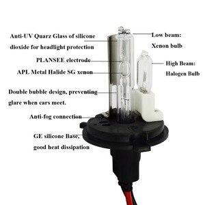 Image 2 - Safego DC 12V hid xenon h4 xenon halogen lampen licht H4 9004 9007 H13 high low Hallo Lo lampe 35W Auto scheinwerfer 4300K 6000k 8000k
