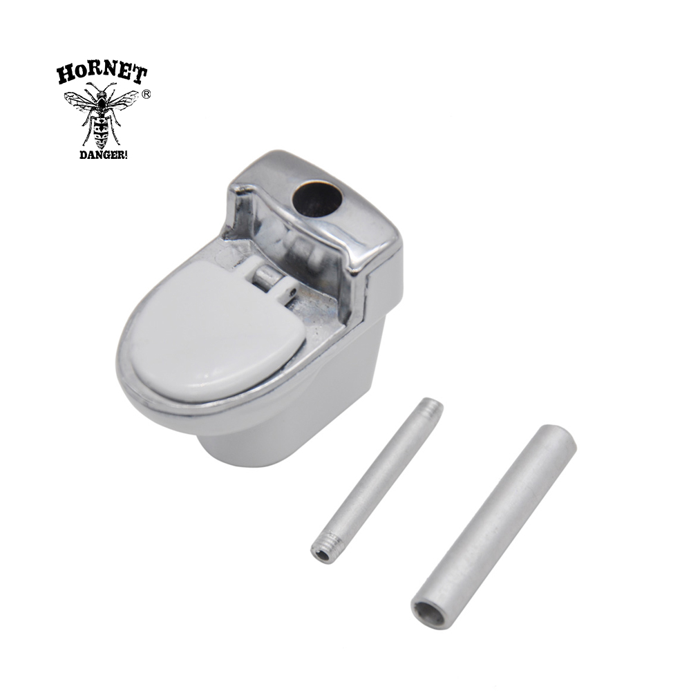 HORNET Toilet Model Metal Smoking Herb Pipe 95 MM With Metal Bowl Ceramic Tobacco Weed Pipe Cigarette Accessories Portable Size