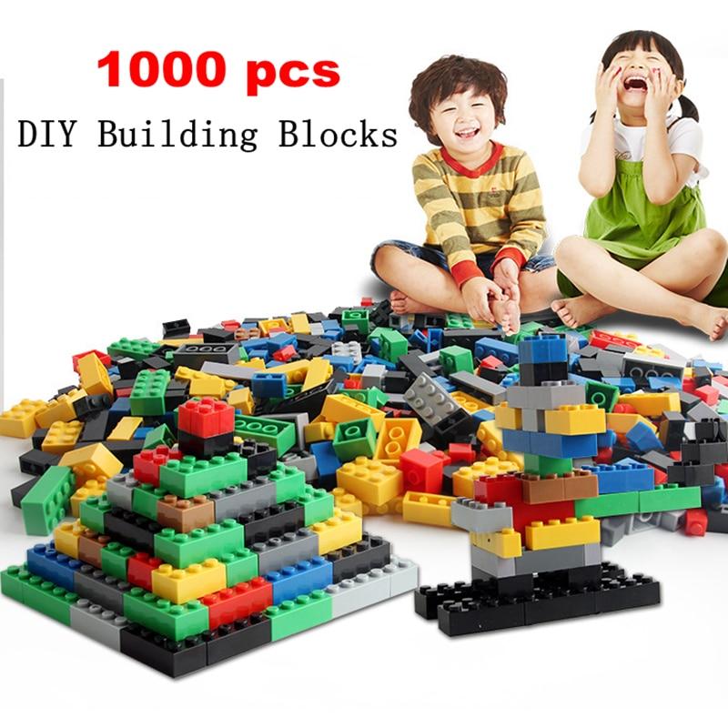 1000pcs Bricks set DIY Building Blocks Compatible with Legoes Classic Blocks Toy Educational Bulk Bricks Christmas Birthday Gift sending dragons 450pcs basic building blocks 12 shape bricks girl boy christmas birthday gift