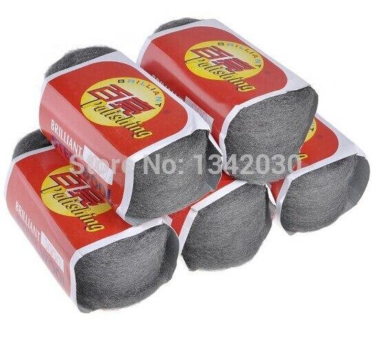 Free Shipping High Quality 5pcs/lot 0000# Metal Fibre Steel Wool, Polishing Wool, Polishing Pad