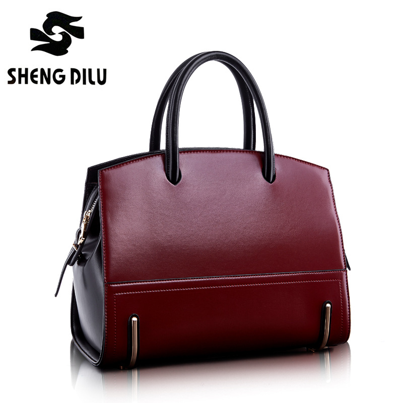 Fashion noble handbag shengdilu brand 2018 new women 100% genuine leather tote shoulder bag bolsa feminina free Shipping yuanyu 2018 new hot free shipping real python leather women clutch women hand caught bag women bag long snake women day clutches