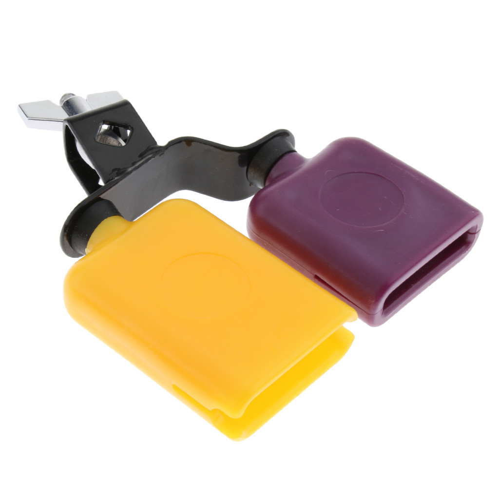 Plastic Material Multicolor Cowbell Drum Set Kit Musical Percussion Accessory