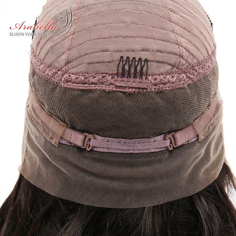 Arabella бразильские Свободные глубокие волны волосы 360 кружева спереди al парик 180% плотность натуральный цветные волосы Реми кружева передние человеческие волосы парики