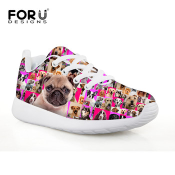 Bulldog Pink Cute Design Printing Kids Sneakers Sport Soft Comfortable Children Run Shoes Poodle Sneaker Lace Up Low Top Soccer