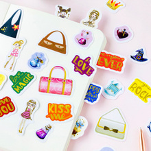 45 pcs/box cute Cartoon Goddess series Washi Stickers Diary Album Label paper Sticker DIY Decoration Stationery