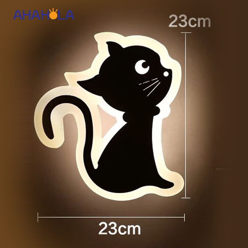 cat shape modern wall sconce bedroom bathroom lamp for mirror 12W AC 220V fixture wall led