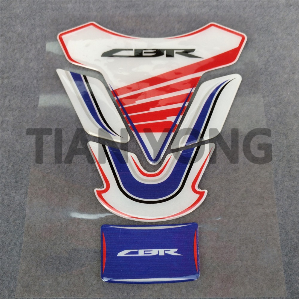"""4.5/""""  HONDA wing motorcycle bike tank decal vinyl sticker GLOSS RED! 2 PIECES"""