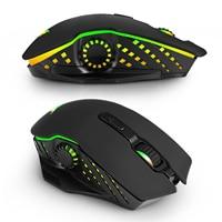 Геймер перезаряжаемые г 2,4 г 2,4 беспроводной игровой мышь Оптический мыши Компьютерные с регулируемым точек на дюйм 3 цвета дыхание свет