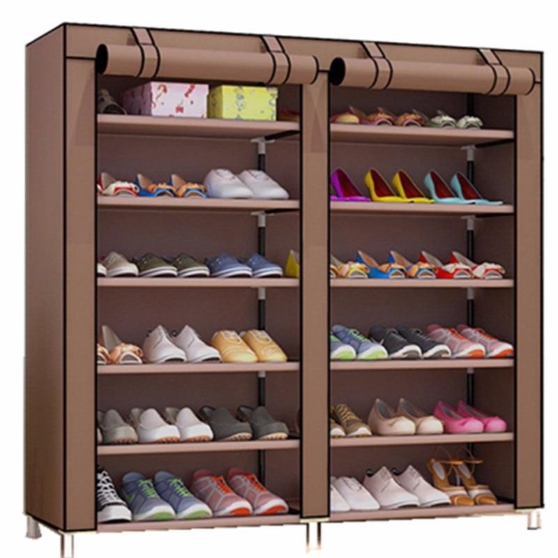 Шкаф для обуви обувь стойки для хранения большая емкость мебель для дома DIY простой 12 Препояшь