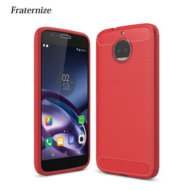 2f8baf68fac Capa de Silicone Para Motorola Moto Tampa G5 Plus Escovado À Prova de  Choque Armadura De