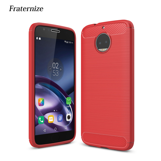 quality design e28a0 9bcff US $2.62 30% OFF|Silicone Case For Motorola Moto G5S Plus Shockproof  Brushed Carbon Fiber Armor Cover TPU Soft Anti drop Back Cover Capa  Coque-in ...